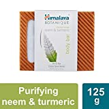 Himalaya Botanique Purifying Neem & Turmeric Handcrafted Bar Soap, Free from Parabens, SLS, Phthalates, Artificial Colors and Artificial Fragrances, 4.41 oz (125 g) 1 PACK