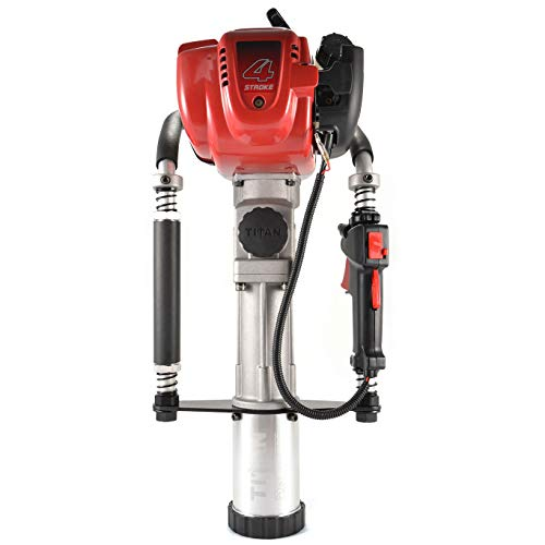 Titan Post Drivers PGD2875H 3.25 Inch Barrel 1.3 Horsepower 4 Stroke Gas Powered Fence Post Hole Digger Post Driver Pole Pounder with Honda Engine
