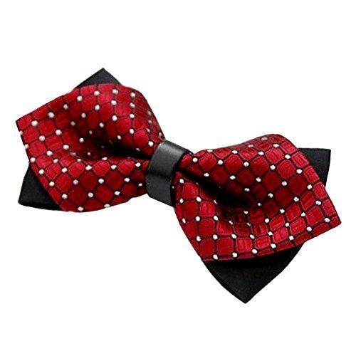 TONSEE® Mode de soirée de mariage fête Fantaisie Bow Tie réglable cravate Bow Tie (rouge)