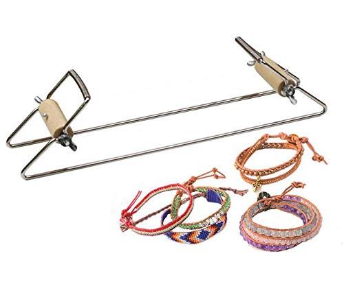 Telar de abalorios Ultimate Bead Loom Kit Marco de metal Manualidades DIY Telar de abalorios Telar de la joyería para el collar pulsera