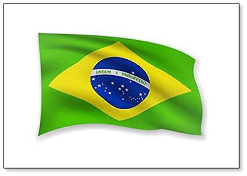 Imán para nevera con diseño de bandera de Brasil