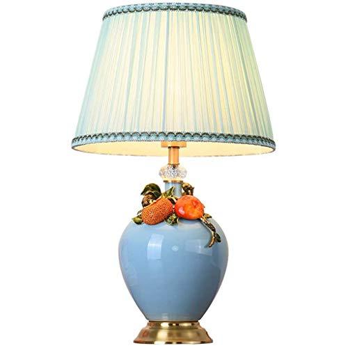 SPNEC Lámpara de Mesa de cerámica-cerámica lámpara de Mesa Esmalte Dormitorio Estudio Europeo de Noche romántica Creativa Retro Inicio Sala de Bodas