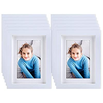 KRII White Picture Frames 5x7 (12 Pack) Made of...