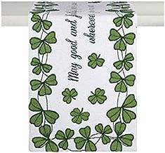 Windham Home St. Patrick's Day Tapestry Table Runner, 72-Inch x 13-Inch (Irish Blessing Shamrocks)