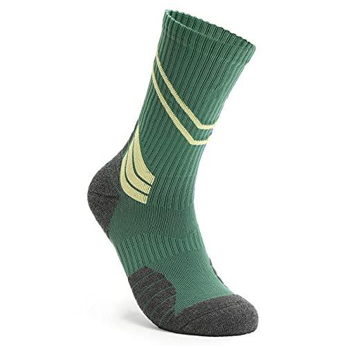 QQAQQ Calcetines De Hombre Calcetines De Baloncesto Calcetines De Deporte De La Élite De La Zapatilla De Deporte De La Zapata-Verde_Código
