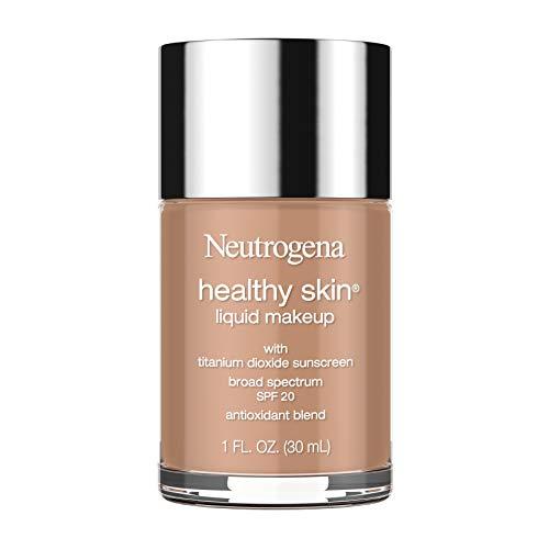 Neutrogena Healthy Skin Liquid Makeup Foundation, Broad Spectrum SPF 20 Sunscreen, Lightweight & Flawless Coverage Foundation with Antioxidant Vitamin E & Feverfew, 135 Chestnut, 1 fl. oz