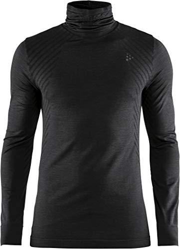 Craft Fuseknit Comfort T-Shirt à Manches Longues pour Homme Noir/Gris foncé L Noir