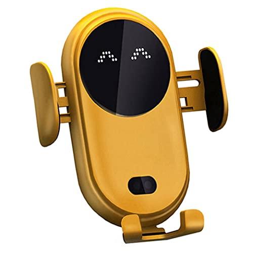 nJiaMe Teléfono de Carga rápida sostenedor del Soporte de Sensor de Infrarrojos sin Hilos del Coche Cargador Inteligente con Antideslizante automática telescópica Clip