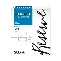 D'Addario リード レゼルヴ スタンダード B♭クラリネット 強度:2.0(10枚入) ファイルドカット DCR1020