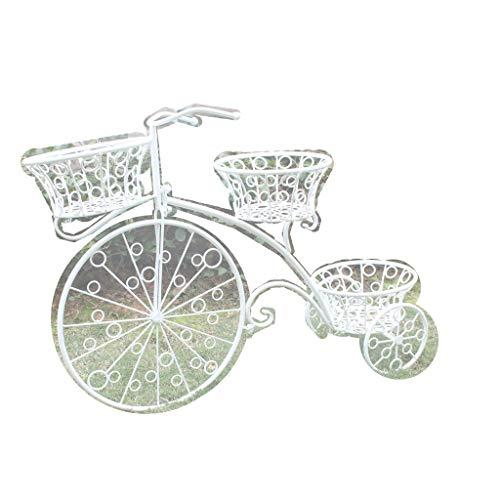 WGZ Bloemenstandaard voor bloemboutiques, creatieve bloemenstandaard voor fietsendragers, decoratie ijzer, bloemenmand, balkon, tuin