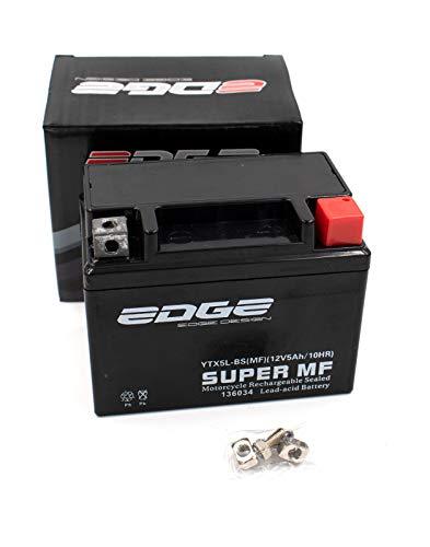 Roller Batterie 12V 5Ah wartungsfrei als verstärkte Batterie passend auch für 12V 4Ah (YB4L-B) passend für viele Roller