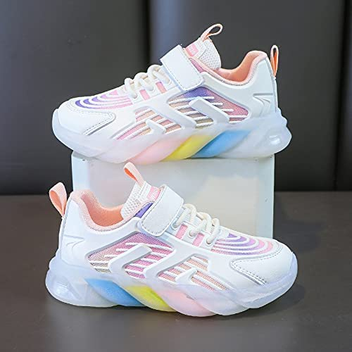 NC Girls' Shoes, Girls' Sports Shoes, New Summer Children's Daddy Shoes, mesh Breathable Children's Shoes, Children's Shoes 34内长21.2cm 粉红色