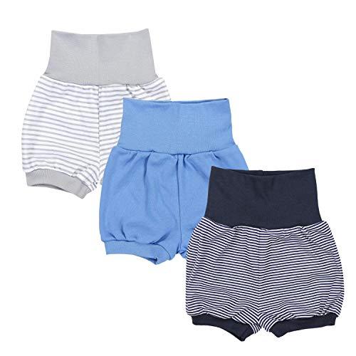 TupTam Baby Unisex Kurze Pumphose Sommershorts 3er Pack, Farbe: Junge 1, Größe: 80-86