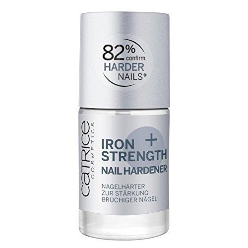 Catrice Iron Strength Nail Hardener, Nail Care, Nagelpflege, transparent, pflegend, schnelltrocknend, ohne Aceton, vegan, ohne Parfüm (10ml)