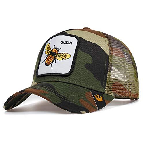 FHHYY Baseball pet pet pet Mannen vrouwen cool trucker caps honing print mesh baseball cap hip hop rok snapback hoeden zomer mode casual hoed