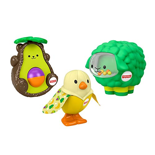 Fisher-Price Food-Animals Gift Set, 3 Take-Along Baby Toys