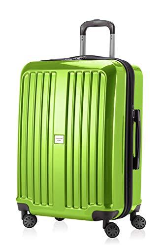 HAUPTSTADTKOFFER - X-Berg - Hartschalenkoffer Koffer Trolley Rollkoffer, 65 cm, 90 Liter, TSA, Apfelgrün Glanz