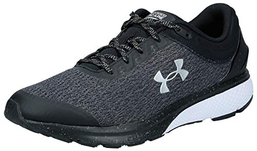 Under Armour mens Charged Escape 3 Running Shoe, Black/White, 10.5 US