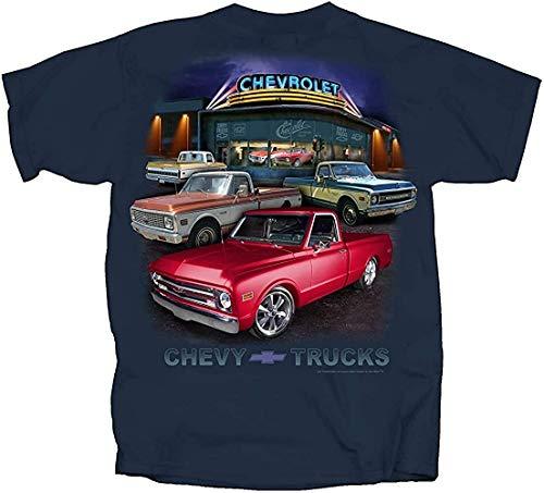 Joe Blow T's 1967 To 1972 Chevy Pickup Trucks T-Shirt 100% Cotton Preshrunk - Blue Dusk Unisex T-Shirt For Men Women Love Shirt
