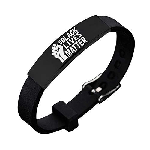 "Sanheng Stylish ""Black Lives matter ""silicone bracelet(BK-4)"