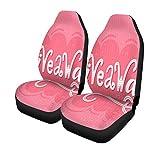 XZfly Cubiertas de asientos de automóvil Concurso femenino de sorteos en rosa Concurso de medios sociales Conjunto de 2 protectores Car Fit for Car
