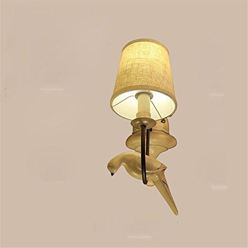 YU-K Chambre minimaliste lampe de chevet lampe murale salon élégant appliques l'étude du corridor routier appliques murales appliques résine fer blanc tissu 30 * 15cm