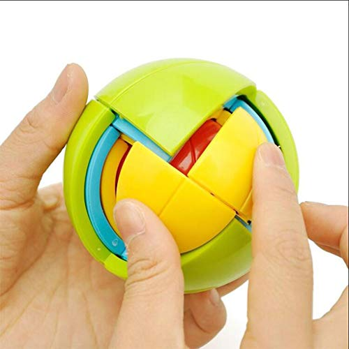LIUYUNQ Puzzle Ball, Magic Rainbow Ball Puzzle Cube Fidget Toys Brain Teaser For Kids Adults iq puzzle brain teaser