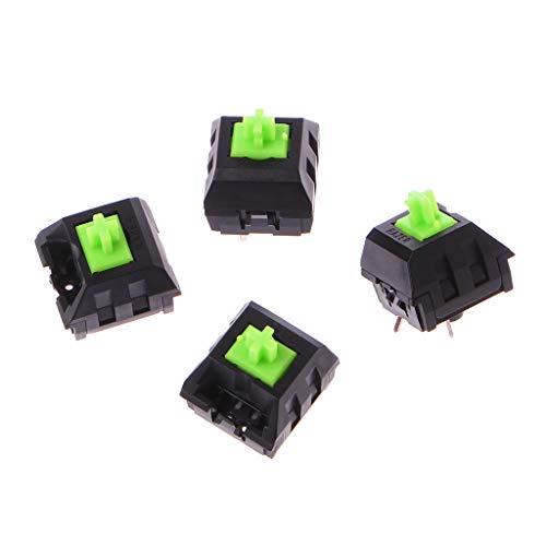 Gjyia 4 stuks groen RGB-schakelaar voor Razer blackwidow Chroma Gaming Mechanisch toetsenbord groen één maat