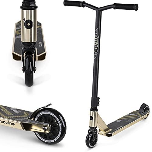 Movino Glide Stunt Scooter Roller | Professioneller Stunt Profi-Roller | mit ABEC 9 Kugellagern | Kickscooter mit 100mm Rad | 6061 Aluminium-Deck | Scooter Gewicht 3,5 kg | Tragfähigkeit: 100 kg