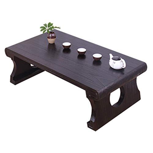 Tables De Thé Zen De Fenêtre en Baie De Maison Appui De Fenêtre D'étude Chinoise De Nain en Bois Massif Basse Japonaise Basses (Color : Brown, Size : 60 * 40 * 30cm)