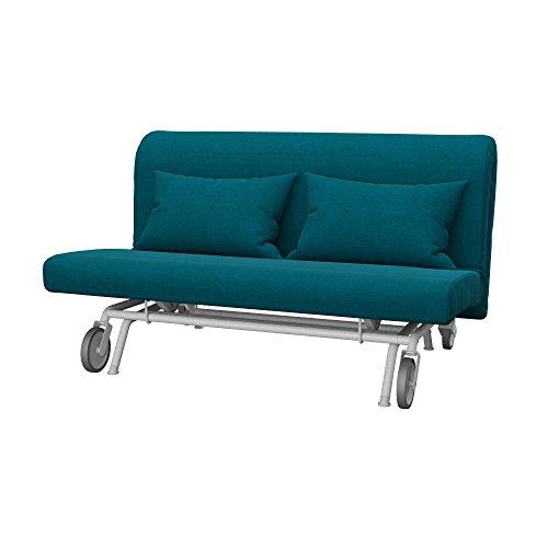 Soferia Funda de Repuesto para IKEA PS sofá Cama de 2 plazas, Tela Elegance Turquoise, Turquesa