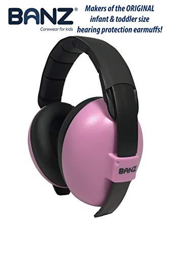 BabyBanz GBB003 Baby-Gehörschutz, 0-2 Jahre, mit extra weichem Kopfbügel, pink