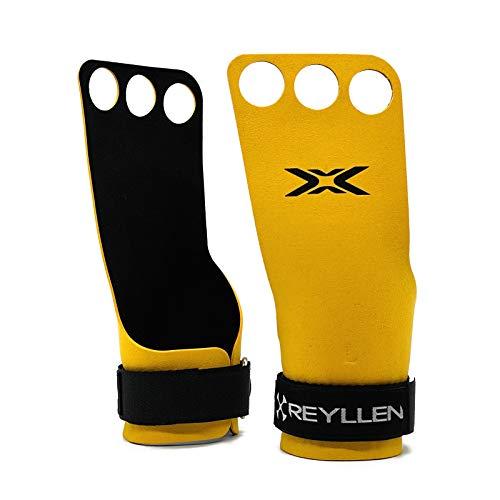 Reyllen® Series 3 BumbleBee X Gymnastic Grips 3-hole - For Crossfit,...
