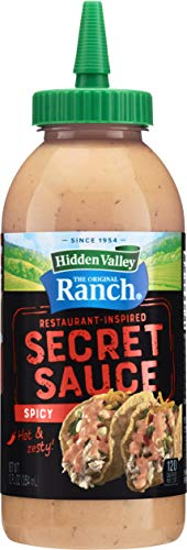 Hidden Valley The Original Ranch Secret Sauce, Spicy 12 Oz Squeezable Bottle (Package May Vary) (21356)