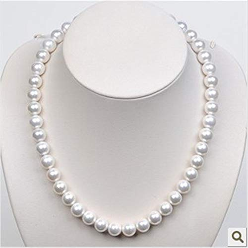 ASDWA Edelsteine Anhänger Halskette,Vintage Natürliche Südsee Muschel Perlenkette Runde Perle 7 Chakra Kette Halsketten Für Männer Frauen Geburtstagsgeschenk Schmuck