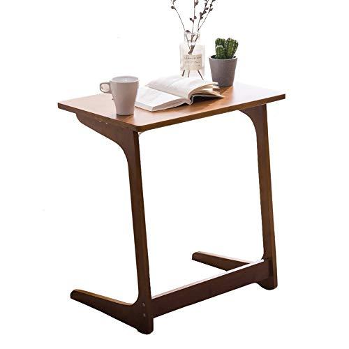 Beistelltisch ZCJB Sofa Bambus-Snack-Tisch Mit L-förmigen Beinen, Mehrzweck-Nachttisch for Wohnzimmer, 65 cm Hoch (Size : 60×40×65cm)