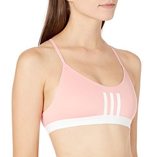 adidas Women's All Me 3-Stripes Mesh Bra Glory Pink/White Large