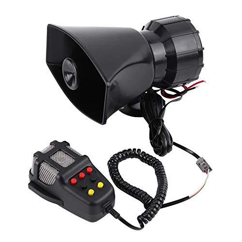 Qiilu Car Audio Lautsprecher, 7 Sounds Laute Auto Audio Lautsprecher Universal Auto Lautsprecher Air Horn Sirene für die meisten Motorräder, Autos, LKW