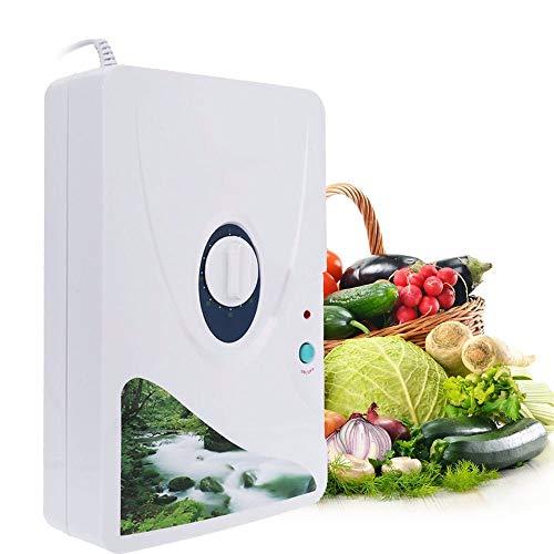 HXC Generador de ozono, generador de ozono Digital, para Frutas y Verduras, Uso en casa, Cocina (Rueda de Temporizador, 1-60 min, 600 MG/h
