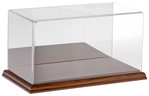 Plymor Clear Acrylic Display Case with Hardwood Base (Mirror Back), 10