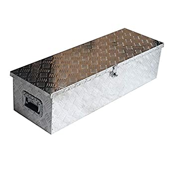 labwork Truck Pickup Underbody Aluminum Tool Box Trailer Storage Bed w/Lock 39x 13 Truck Storage Box Portable Utility Tool Cabinet for Flat Underbed Camper RV