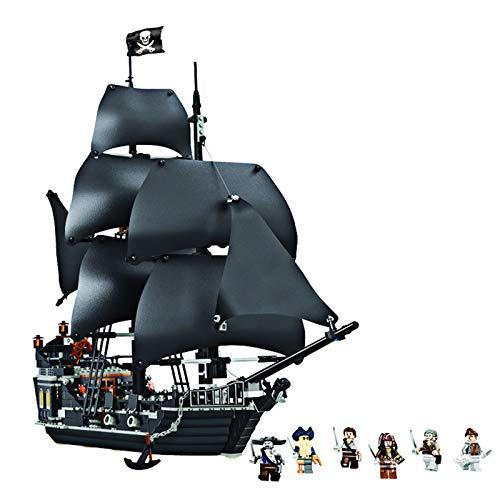 YYDE Barco Pirata, Modelo de Bloque de construcción de Barco Piratas del Caribe, Kit de construcción de Modelo de Vela para Adultos, Compatible con Lego