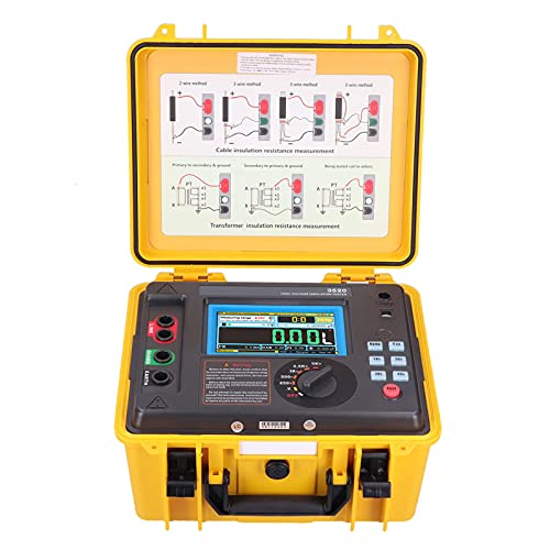 ETCR3520 MegóHmetro Digital Probador de Resistencia de Aislamiento PortáTil LCD Digital 5KV Medidor de Megaohmios para Motor de Cable(EU 100‑240V)