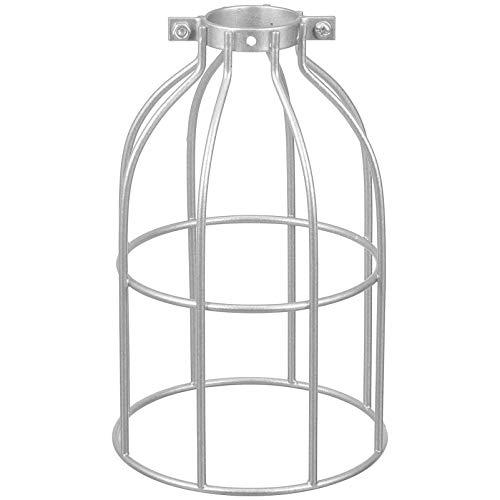 FRCOLOR Lámpara de Protección de Bombilla Metálica Plateada Jaula de Lámpara Colgante Vintage Soporte de Lámpara de Techo Cubiertas de Lámpara Industrial de Estilo Abierto Cubre