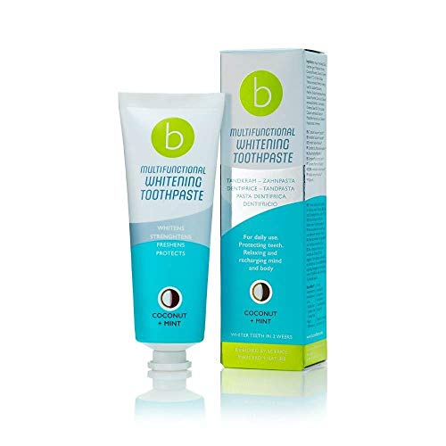 Beconfident Multifunctionele Whitening tandpasta Sensitiv + munt voor gevoelige tanden, bescherming tegen kariën en tandplak, versterkt tandvlees, verwijdert vlekken en licht tanden op, met actieve kool