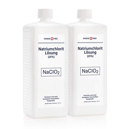 HANSE PRO Natriumchlorit Lösung (25%), 2 x 1000 ml, nach Original-Rezeptur, deutsches Qualitätsprodukt