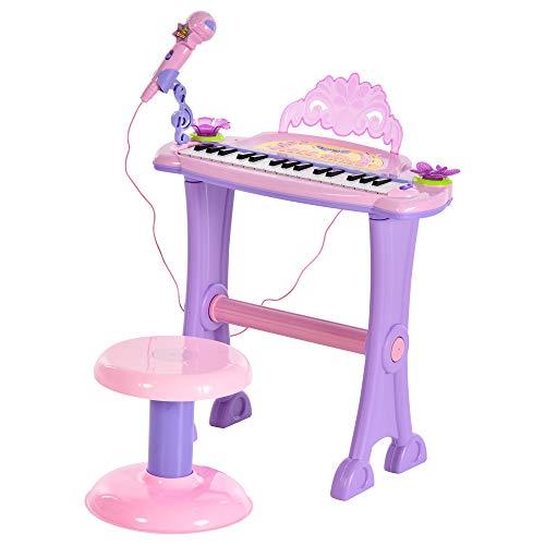 HOMCOM Teclado Electrónico Infantil 32 Teclas Juguete Music