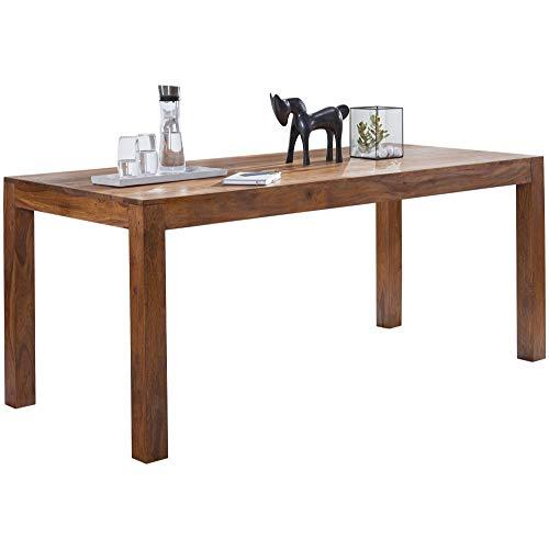 FineBuy Design Esstisch Holz Massiv 120 x 60 x 76 cm | Moderner Esszimmertisch Sheesham Palisander für 4-6 Personen Massivholz | Holztisch Rechteckig | Landhaus Esszimmer Möbel