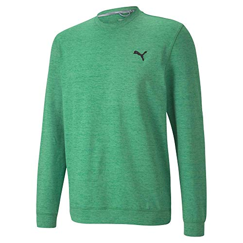 PUMA Golf 2020 Men's Cloudspun Crewneck Amazon Green Heather, Large