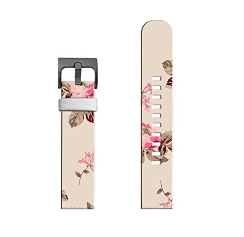 Compatible with 360 Watch Bands 2nd Gen 42Mm Mens Man Genuine Leather Strap Elegant Beautiful Pink Rose Art